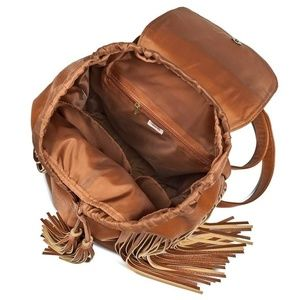 Mossimo Supply Co. Bags - Mossimo, Fringe Backpack Handbag with Solid Flap